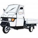 AS PIAGGIO APE 50, weiss