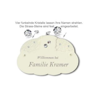 Namensschild My Star Herz Kristall 2 St. D=1cm 165X110mm