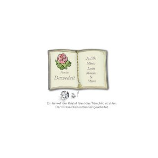 Schild Buchform My Star Rose 145X100mm